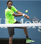 Gael Monfils (FRA) defeats Grigor Dimitrov (BUL) 7-5, 7-6, 7-5 at the US Open being played at USTA Billie Jean King National Tennis Center in Flushing, NY on September 2, 2014