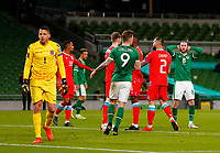 27th March 2021; Aviva Stadium, Dublin, Leinster, Ireland; 2022 World Cup Qualifier, Ireland versus Luxembourg; Alan Browne of Ireland reacts to a missed shot on goal