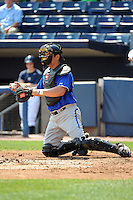 Aberdeen Ironbirds catcher Scott Kalush (43) during game against the Staten Island Yankees at Richmond County Bank Ballpark at St.George on July 18, 2012 in Staten Island, NY.  Staten Island defeated Aberdeen 3-2.  Tomasso DeRosa/Four Seam Images