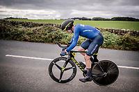 Edoardo Affini (ITA/Mitchelton-Scott)<br /> Elite Men Individual Time Trial<br /> from Northhallerton to Harrogate (54km)<br /> <br /> 2019 Road World Championships Yorkshire (GBR)<br /> <br /> ©kramon