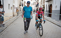 Miguel Angel Lopez (COL/Astana) after finishing the stage (where he lost the red jersy again)<br /> <br /> Stage 6: Mora de Rubielos to Ares del Maestrat (199km)<br /> La Vuelta 2019<br /> <br /> ©kramon