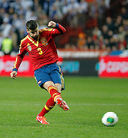 Spain's Gerard Pique during international match of the qualifiers for the FIFA World Cup Brazil 2014.March 22,2013.(ALTERPHOTOS/Victor Blanco)