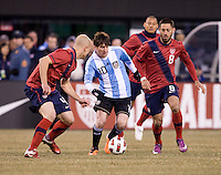Lionel Messi, Michael Bradley, Clint Dempsey. The USMNT tied Argentina, 1-1, at the New Meadowlands Stadium in East Rutherford, NJ.