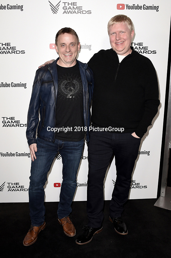 LOS ANGELES - DECEMBER 6: Steve Cotton and Scott Taylor (R) attend the 2018 Game Awards at the Microsoft Theater on December 6, 2018 in Los Angeles, California. (Photo by Scott Kirkland/PictureGroup)