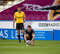 22nd August 2020; The John Smiths Stadium, Huddersfield, Yorkshire, England; Rugby League Coral Challenge Cup, Catalan Dragons versus Wakefield Trinity; James Maloney of Catalan Dragons lines up his conversion kick