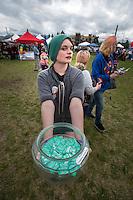 Free condoms at Alaska Pridefest's PrideFestival on Anchorage's Delaney Park Strip.