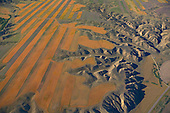 Cultivated fields and erosion along Missouri River