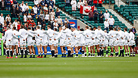 10th July 2021; Twickenham, London, England; International Rugby Union England versus Canada; National anthems  for the England XV