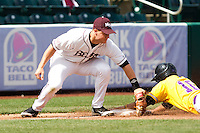Kyle Hardy (12) of the Missouri State Bears during a game vs. the Western Illinois Leathernecks at Hammons Field in Springfield, Missouri;  March 20, 2011.  Photo By David Welker/Four Seam Images