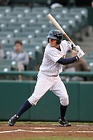 Trenton Thunder second baseman Corban Joseph #2 during a game against the Portland Sea Dogs at Waterfront Park on May 4, 2011 in Trenton, New Jersey.  Trenton defeated Portland by the score of 7-1.  Photo By Mike Janes/Four Seam Images