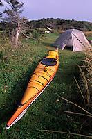 Ile du Cap-aux-Meules, Iles de la Madeleine, Quebec, Canada - Campground at Parc de Gros-Cap, Gulf of St. Lawrence - (Grindstone Island, Magdalen Islands)
