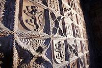Piastrelle di terracotta nel Castello di Torrechiara.<br /> Detail of terracotta tiles in the Camera d'Oro (Golden Room), in the Castle of Torrechiara.<br /> UPDATE IMAGES PRESS/Riccardo De Luca
