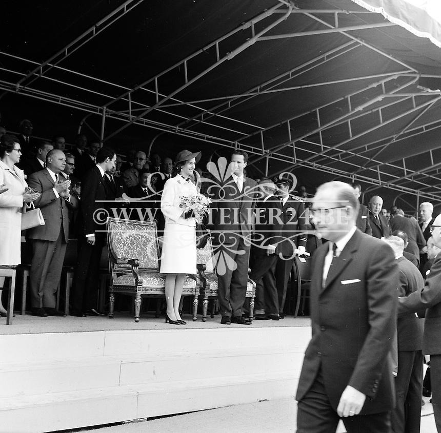 Juni 1969. Opening tunnel.  31 mei 1969. Feestelijke opening van de Kennedytunnel in Antwerpen.  Koning Boudewijn en Koningin Fabiola.