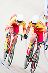 Albert Torres Barcelo and Sebastian Mora Vedri of Spain compete in the Men's Madison 50 km Final during the 2017 UCI Track Cycling World Championships on 16 April 2017, in Hong Kong Velodrome, Hong Kong, China. Photo by Marcio Rodrigo Machado / Power Sport Images