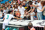 Real Madrid's new player Jesus Vallejo with the supporters during his official presentation. July 7, 2017. (ALTERPHOTOS/Acero)