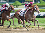 August 29, 2015 : Sheer Drama, ridden by Joe Bravo, wins the Personal Ensign Handicap on Travers Stakes Day at Saratoga Race Course in Saratoga Springs, NY. Scott Serio/ESW/CSM