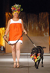 Claudia Solis with Holden at the Citizens for Animal Protection owner/pet fashion show at the Hilton Americas Houston Saturday June 06,2009.(Dave Rossman/For the Chronicle)