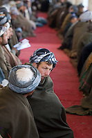 Over 10,000 elders attend a tribal 'jirga' or gathering to hear the case from the charity POM354 to grow pomegranates instead of opium. Addressing the event were James Brett (CEO of POM354) and local political figures.
