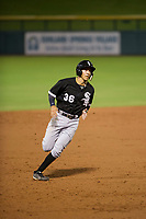 AZL White Sox shortstop Laz Rivera (36) rounds third base during the game against the AZL Cubs on August 13, 2017 at Sloan Park in Mesa, Arizona. AZL White Sox defeated the AZL Cubs 7-4. (Zachary Lucy/Four Seam Images)