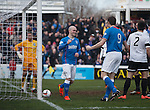 Nicky Law celebrates after he opens the scoring for Rangers