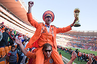 Netherlands fans celebrate  Hollands 2-0 victory over Denmark after the FIFA World Cup first round match between Holland and Denmark at Soccer City in Johannesburg, South Africa on Monday, June 14, 2010.