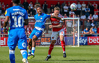 Ash Eastham of Fleetwood Town (right) during the Sky Bet League 1 match between Fleetwood Town and Peterborough at Highbury Stadium, Fleetwood, England on 19 April 2019. Photo by Stefan Willoughby.