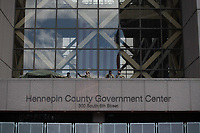 MARCH 28 - Minneapolis, MN: A general view outside the Hennepin County Courthouse a day before the start Derek Chauvin Trial on March 28, 2021 in  Minneapolis, Minnesota. <br /> CAP/MPI/IS/CT<br /> ©CT/IS/MPI/Capital Pictures
