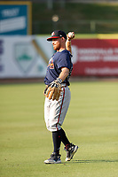 Mississippi Braves second baseman Riley Unroe (54) warms up prior to the game against the Tennessee Smokies at Smokies Stadium on July 15, 2021, in Kodak, Tennessee. (Danny Parker/Four Seam Images)