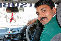 Bhaktapur, Nepal.  Taxi Driver, a Christian.