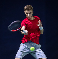 Hilversum, Netherlands, December 2, 2018, Winter Youth Circuit Masters, Brian Bozemoj (NED) winner boys 16 years.<br /> Photo: Tennisimages/Henk Koster