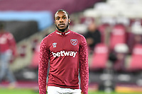 Michail Antonio of West Ham United warms up during West Ham United vs Aston Villa, Premier League Football at The London Stadium on 30th November 2020