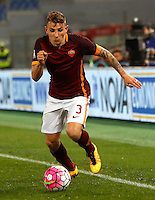 Calcio, Serie A: Roma vs Fiorentina. Roma, stadio Olimpico, 4 marzo 2016.<br /> Roma's Lucas Digne in action during the Italian Serie A football match between Roma and Fiorentina at Rome's Olympic stadium, 4 March 2016.<br /> UPDATE IMAGES PRESS/Riccardo De Luca