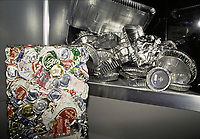 File PhotoMontreal (Qc) CANADA<br /> Display of aluminium recycling<br /> <br /> Photo (c)  Pierre Roussel / Images Distribution