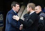 St Johnstone v Inverness Caley Thistle…03.12.16   McDiarmid Park..     SPFL<br />Tommy Wright and Richie Foran before kick off<br />Picture by Graeme Hart.<br />Copyright Perthshire Picture Agency<br />Tel: 01738 623350  Mobile: 07990 594431