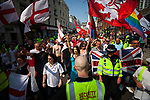 © Joel Goodman - 07973 332324 . 24/04/2011 . Brighton , UK . Nationalist street movement March for England holds a march and rally in Brighton , opposed by antifascists . Photo credit : Joel Goodman