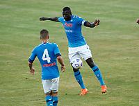Kalidou Koulibaly  durante il Triangolare precampionato nel ritiro estivo  tra Napoli , L'Aquila e il Castel Di Sangro allo stadio Patini