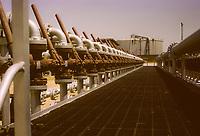 Kuwait November 1966.  Kuwait Oil Company Gathering Facility.  Ahmadi.