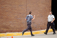 September 13, 2006 File Photo - a student fles  the scene of a shooting at Dawson college.<br /> 19 student were wounded and 1 was killed by Kimveer Gill, who  commited suicide after beeing wound by the police<br /> <br /> Photo : (c) Rob Gallbraith, 2006