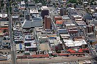 aerial photograph of the Albuquerque train station, New Mexico