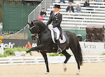 28 September 2010. #418 Edward Gal and Moorlands Totilas lead the way in the World Equestrian Games Dressage Grand Prix, with a score of 83.9