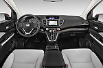 Stock photo of straight dashboard view of a 2015 Honda Cr-V Touring 5 Door Suv 2WD Dashboard