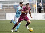 Forfar v St Johnstone…28.07.18…  Station Park    Betfred Cup<br />Drey Wright holds off Dylan Easton<br />Picture by Graeme Hart. <br />Copyright Perthshire Picture Agency<br />Tel: 01738 623350  Mobile: 07990 594431
