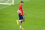 Alvaro Morata during Spain training session at Santiago Bernabeu Stadium in Madrid, Spain September 01, 2017. (ALTERPHOTOS/Borja B.Hojas)