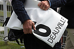 August 15, 2021, Deauville (France) - Saddle cloth for #6 for races in Deauville at the Deauville Racecourse. [Copyright (c) Sandra Scherning/Eclipse Sportswire)]