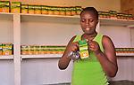 A tea shop in the heart of tea farms in western Uganda