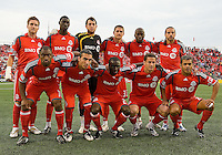 18 July 2009: Toronto FC starting eleven during the International friendly between Toronto FC and Argentina's River Plate at BMO Field..The game ended in a 0-0 tie and River Plate  won 4-3 in penalty kicks..