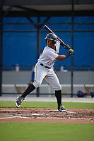 Pittsburgh Pirates Jeremias Portorreal (51) at bat during an Instructional League game against the Toronto Blue Jays on October 14, 2017 at the Englebert Complex in Dunedin, Florida.  (Mike Janes/Four Seam Images)