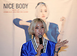 """Hyo-Min(T-ara), Jun 30, 2014 : South Korean singer Hyomin, a member of girl group T-ara, attends a news conference in Seoul, South Korea. Hyomin will release her first solo mini album,""""Nice Body"""" on July 2.  (Photo by Lee Jae-Won/AFLO) (SOUTH KOREA)"""