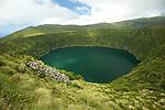 Green lake of Funda (105 m deep) Flores Island..