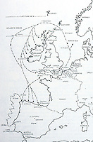 Maps:  Route of the Armada, 1588.  Photo '84.